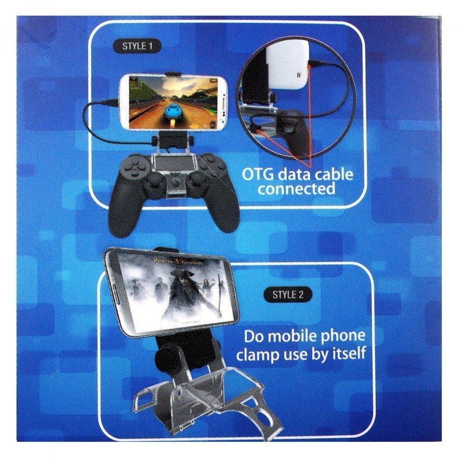 Kääntyvä Älypuhelimen Pidike Playstation 4 Ps4 Ohjaimelle