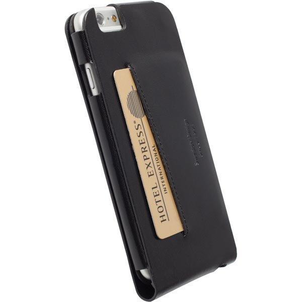 Kalmar WalletCase iphone6:lle aitoa nahkaa musta