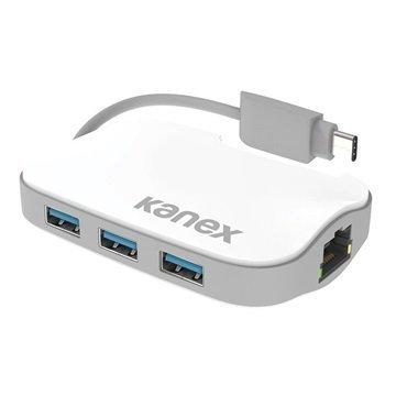 """Kanex C-tyypin 3-liitäntäinen USB & Gigabitin Ethernet-sovitin â"""" Valkoinen"""