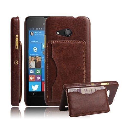 Kangaroo Microsoft Lumia 550 Kova Kotelo Standillä Ruskea