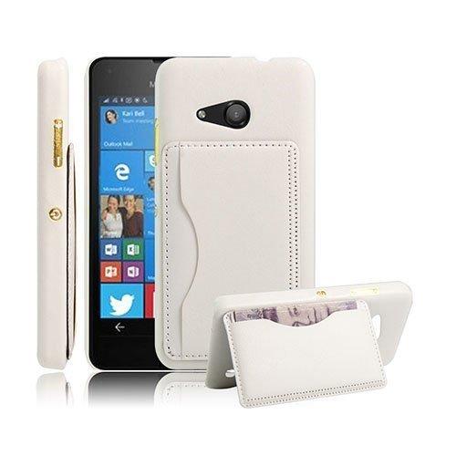 Kangaroo Microsoft Lumia 550 Kova Kotelo Standillä Valkoinen