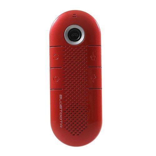 Kannettava Bluetooth Kaiutin Ja Vastaanotin Magneetti Pidikkeellä Punainen