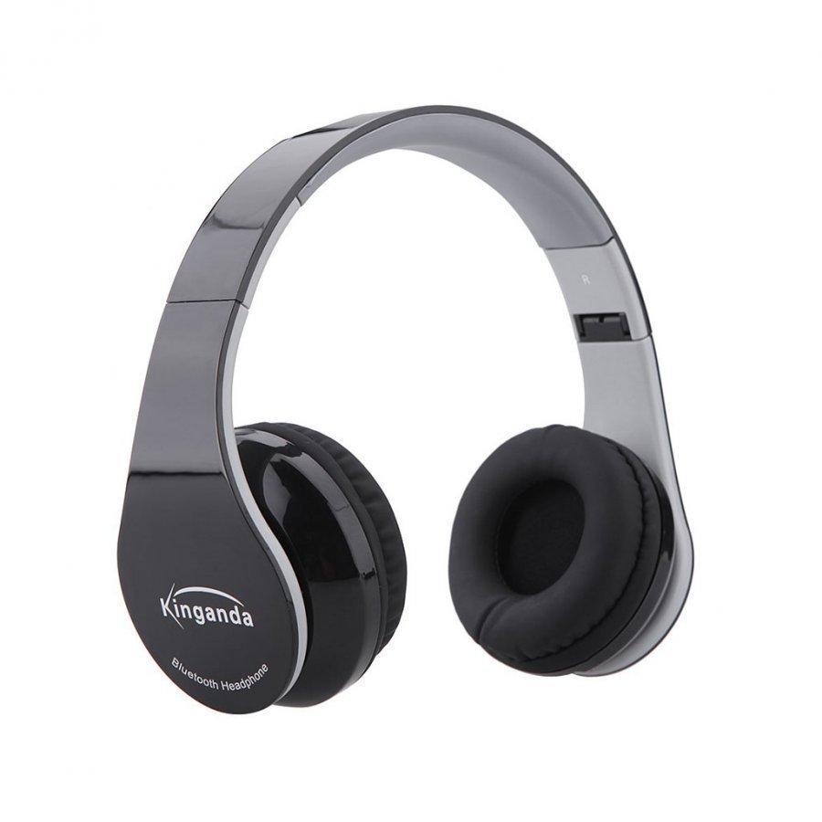 Kinganda Taitettavat Bluetooth Kuulokkeet Mikrofonilla Musta