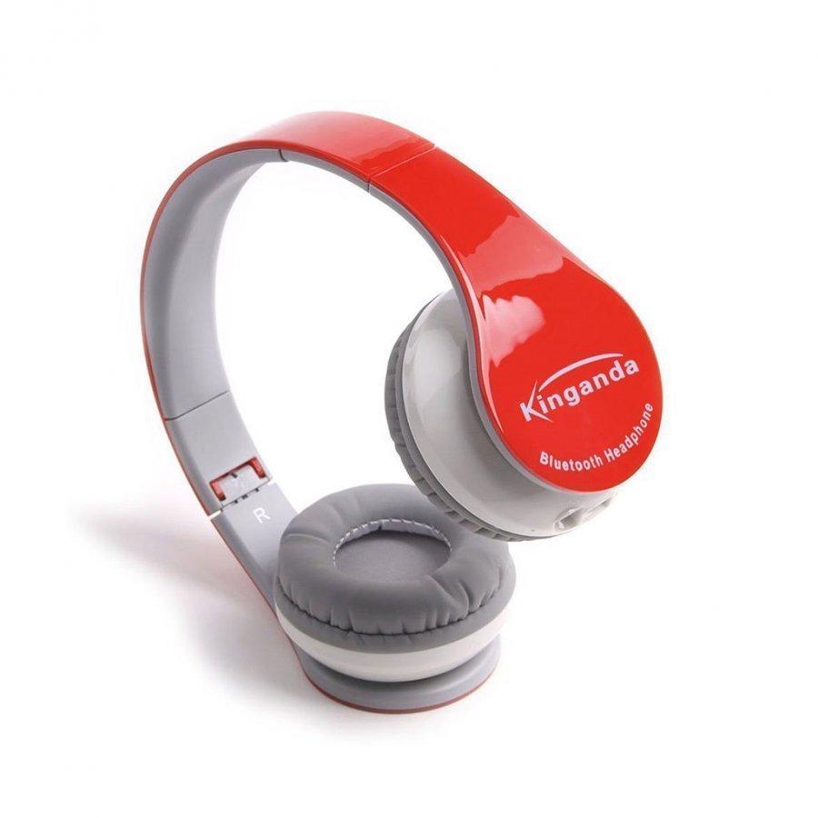 Kinganda Taitettavat Bluetooth Kuulokkeet Mikrofonilla Punainen
