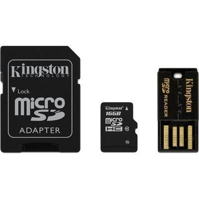 Kingston 16GB Multi Kit / Mobility Kit microSDHC USB SDHC Class 10