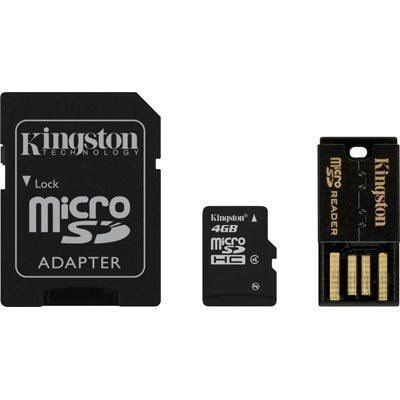 Kingston 4GB Multi Kit / Mobility Kit microSDHC USB SDHC Class 4