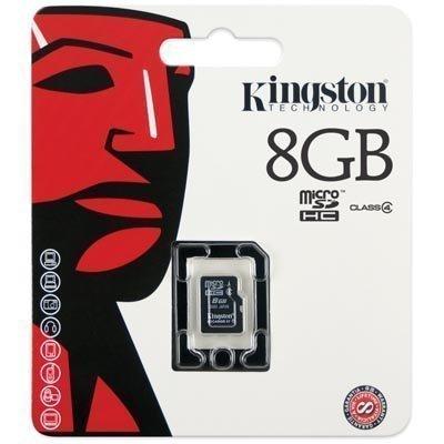 Kingston muistikortti microSDHC 8 Gt Class 4