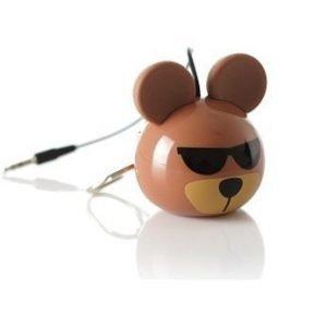 Kitsound Mini Buddy Original Speaker Bear Brown EOL