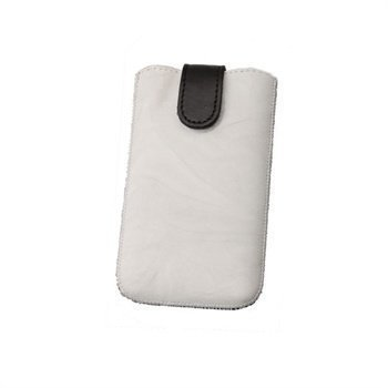 Konkis Calors Quick Up Nahkakotelo iPhone 4 iPhone 4S Nokia C7 Valkoinen/Musta