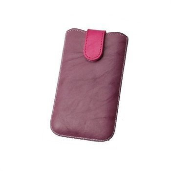 Konkis Calors Quick Up Nahkakotelo iPhone 4 iPhone 4S Nokia C7 Violetti/Pinkki