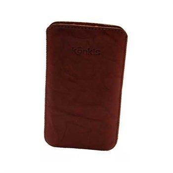 Konkis Leather Case Samsung i9100 Galaxy S2 HTC Sensation Sensation XE Washed Choco Brown
