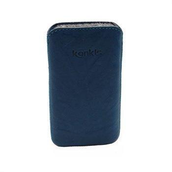 Konkis Leather Case iPhone 4 / 4S HTC Desire S Nokia Asha 303 Washed Blue