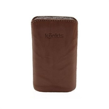 Konkis Leather Case iPhone 4 / 4S HTC Desire S Nokia Asha 303 Washed Brown