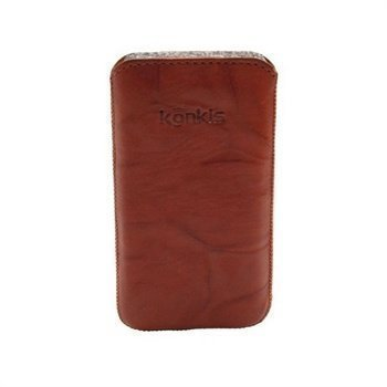 Konkis Leather Case iPhone 4 / 4S HTC Desire S Nokia Asha 303 Washed Choco Brown