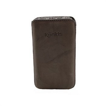 Konkis Leather Case iPhone 4 / 4S HTC Desire S Nokia Asha 303 Washed Grey