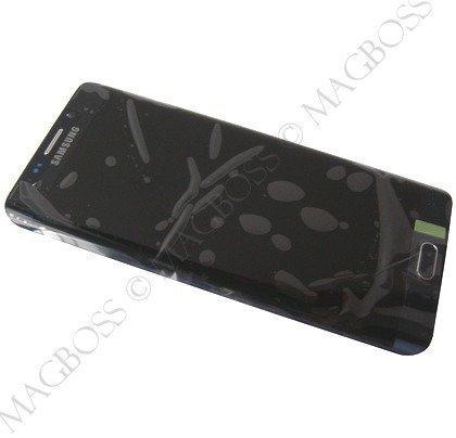 Kosketuspaneeli with LCD Näyttö Samsung SM-G928 Galaxy S6 Edge+ musta Alkuperäinen