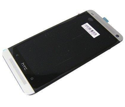 Kosketuspaneeli with lcd Näyttö HTC One M7 valkoinen Alkuperäinen