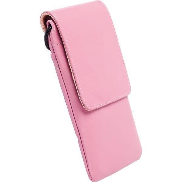 Krusell Dalby Mobile Case puhelinkotelo nahkainen vaaleanpunainen