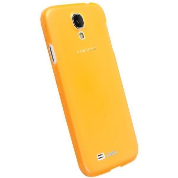 Krusell FrostCover muovikuori Galaxy S4 osittain läpinäk. kelt