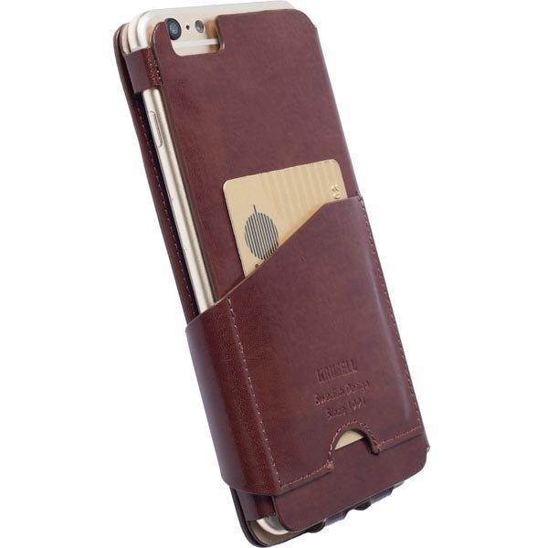 Krusell Kalmar FlipWallet nahkasuojus iPhone 6 Plus Ruskea