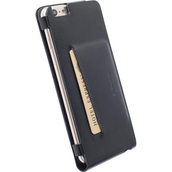 Krusell Kalmar Wallet Case Nahkasuojus iPhone 6 Plus Musta