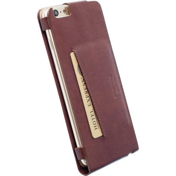 Krusell Kalmar Wallet Case nahkasuojus iPhone 6 Plus Ruskea