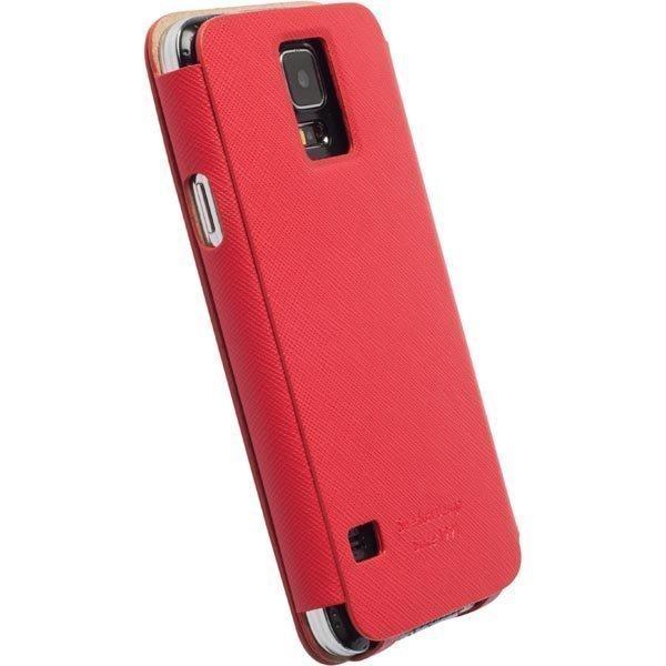 Krusell Malmö FlipCase Samsung Galaxy S5 punainen