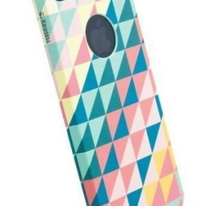 Krusell PrintCover Green Triangle for iPhone 5 & 5s