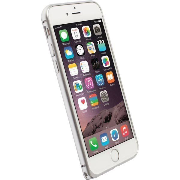 Krusell Sala Alubumper Suojakuori alumiini iPhone 6 matta hopea