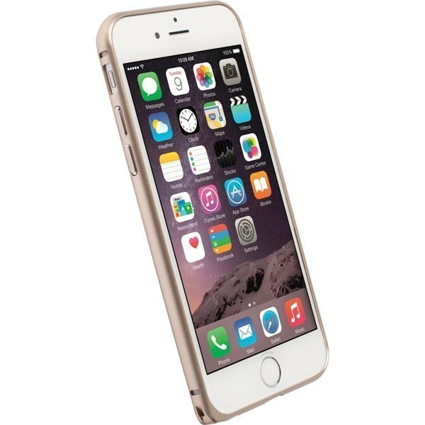 Krusell Sala Alubumper Suojakuori alumiini iPhone 6 matta kullan
