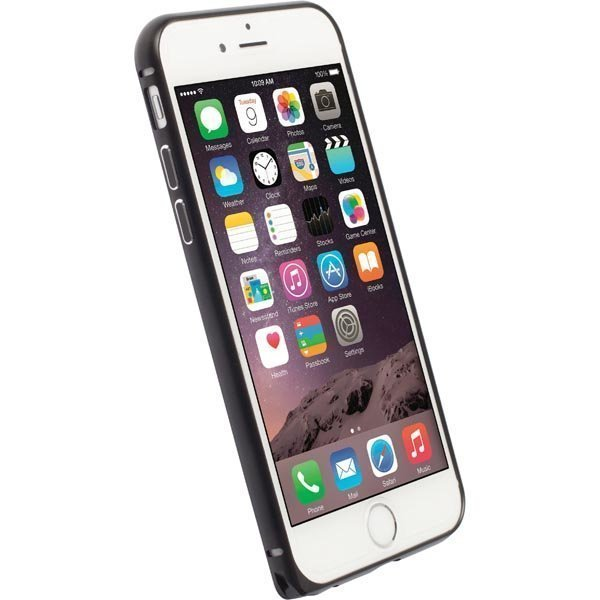 Krusell Sala Alubumper Suojakuori alumiini iPhone 6 matta musta