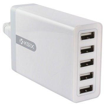 """Ksix 5 USB Seinälaturi â"""" Valkoinen"""