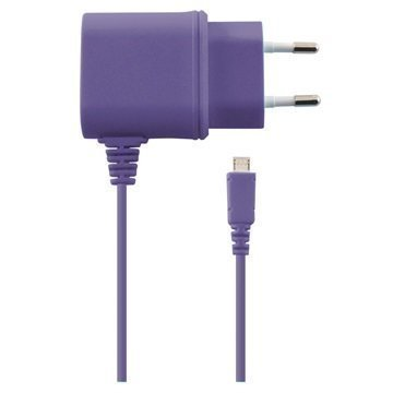 Ksix Micro USB-laturi Purppura