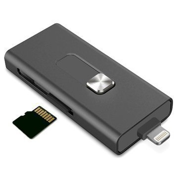 Ksix iMemory Muistilaajennus MicroSD-kortinlukijalla Lightning / USB iPhone iPod iPad