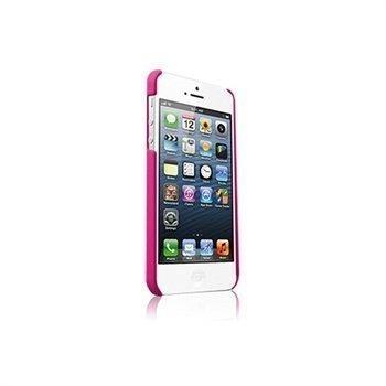Kuminen Napsautettava Suojakuori iPhone 5 / 5S / SE -Puhelimelle Vaaleanpunainen