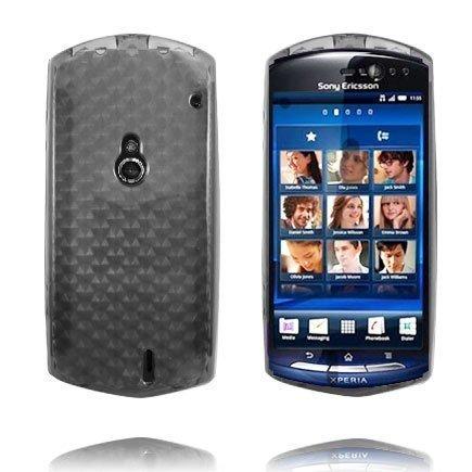 Kuutiot Harmaa Sony Ericsson Xperia Neo Silikonikuori