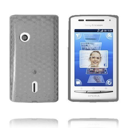 Kuutiot Harmaa Sony Ericsson Xperia X8 Silikonikuori