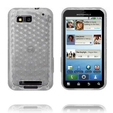 Kuutiot Läpikuultava Valkoinen Motorola Defy Silikonikuori