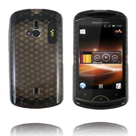 Kuutiot Musta Sony Ericsson Live Silikonikuori