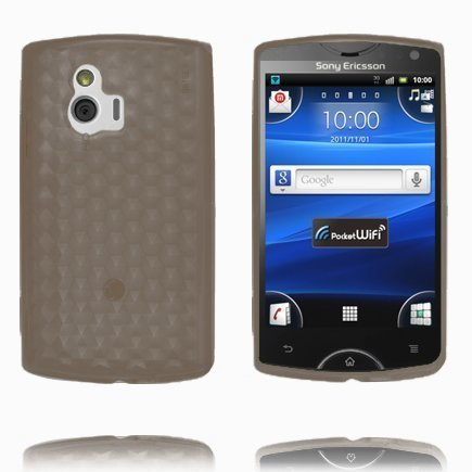 Kuutiot Musta Sony Ericsson Xperia Mini Silikonikuori