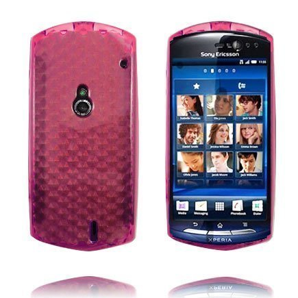 Kuutiot Punainen Lohi Sony Ericsson Xperia Neo Silikonikuori