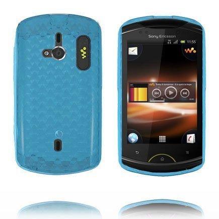 Kuutiot Sininen Sony Ericsson Live Silikonikuori