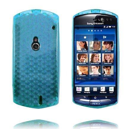 Kuutiot Vaaleansininen Sony Ericsson Xperia Neo Silikonikuori