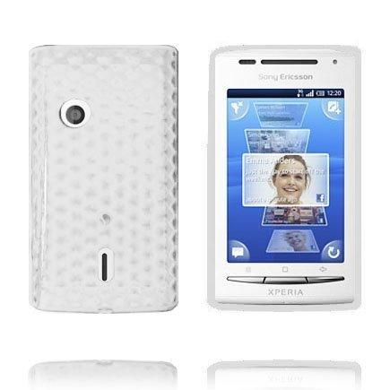 Kuutiot Valkoinen Sony Ericsson Xperia X8 Silikonikuori