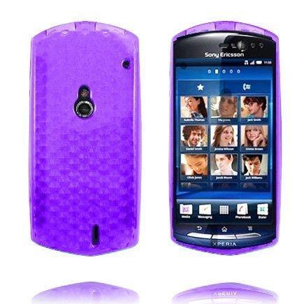 Kuutiot Violetti Sony Ericsson Xperia Neo Silikonikuori