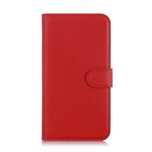Kvist Microsoft Lumia 550 Nahkakotelo Standillä Punainen