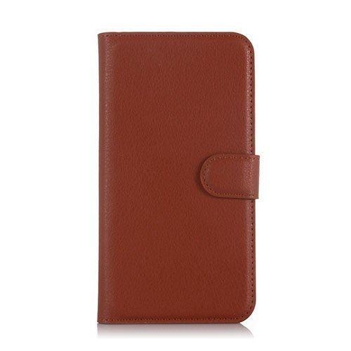 Kvist Microsoft Lumia 550 Nahkakotelo Standillä Ruskea