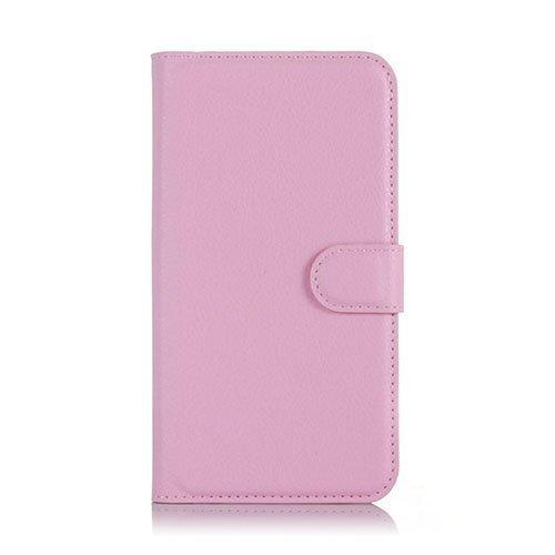 Kvist Microsoft Lumia 550 Nahkakotelo Standillä Vaalea Pinkki