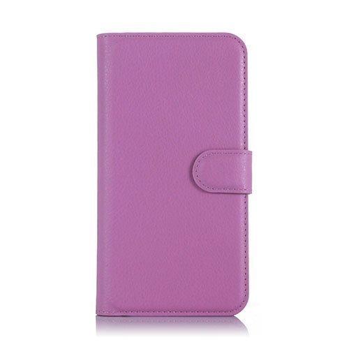 Kvist Microsoft Lumia 550 Nahkakotelo Standillä Violetti