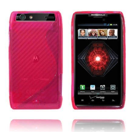 Läpikuultava S-Line Pinkki Motorola Droid Razr Maxx Suojakuori